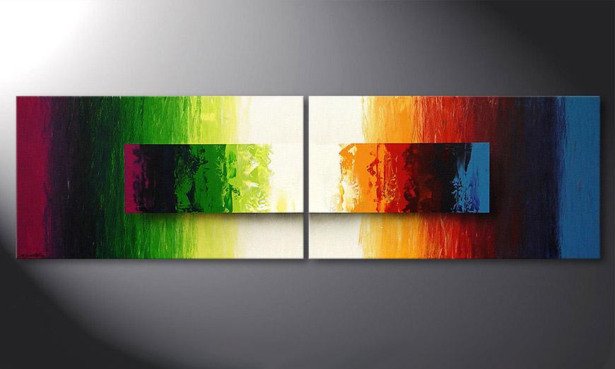 Battle of Colours 200x60x2cm Obraz