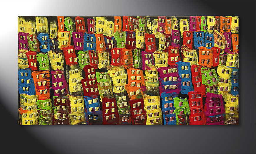 Beauty of a City 120x60x2cm Obraz
