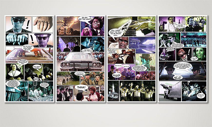 Blues Brothers 160x70x2cm Obraz