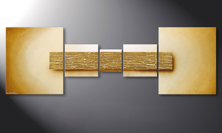 Broken Gold 180x60x2cm Obraz