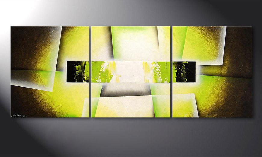 Broken Green 180x70x2cm Obraz
