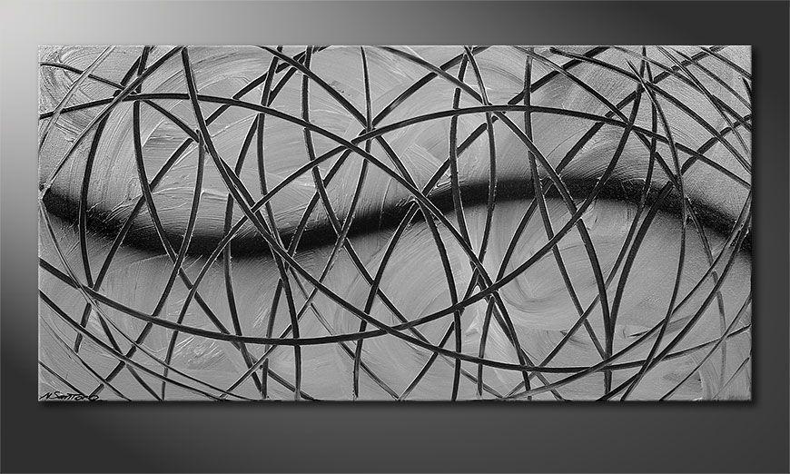 Broken White 120x60x2cm Obraz