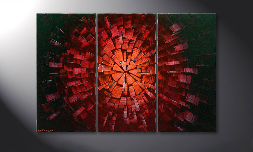 Center of Glow 120x80x2cm Obraz