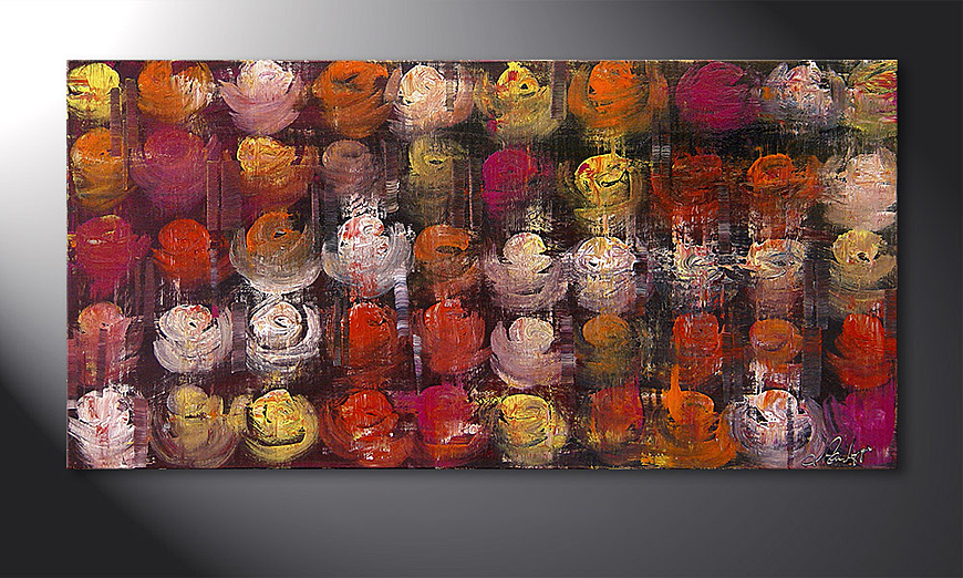 Colored Roses 120x60x2cm Obraz