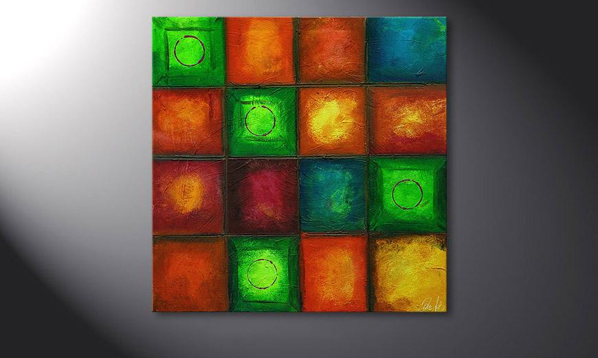 Colorful Cubes 80x80x2cm Obraz