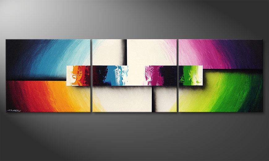 Colorful life ii 210x60cm nowoczesne obraz obrazy xxl for Images tableaux modernes