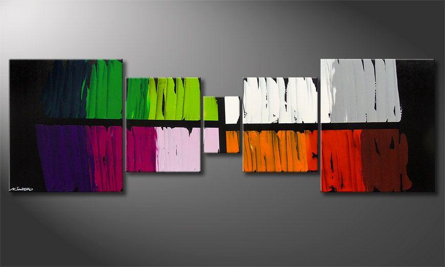 Colorful Lights 220x70x2cm Obraz