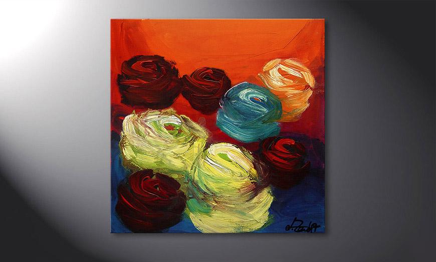 Colors of Roses 70x70x2cm Obraz