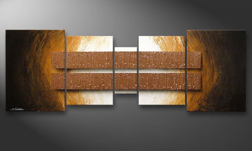 Copper Blocs 200x70x2cm Obraz