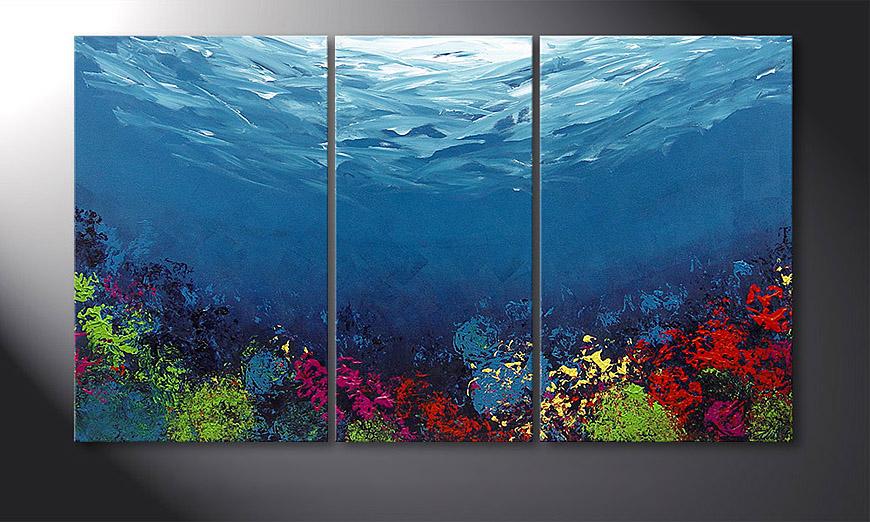 Coral Garden 140x80x2cm Obraz