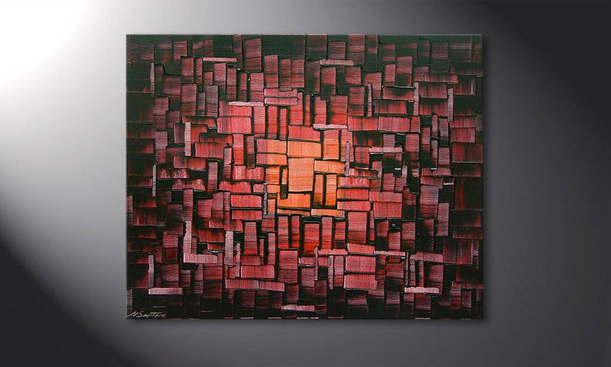 Cubes of Glow 100x80x2cm Obraz