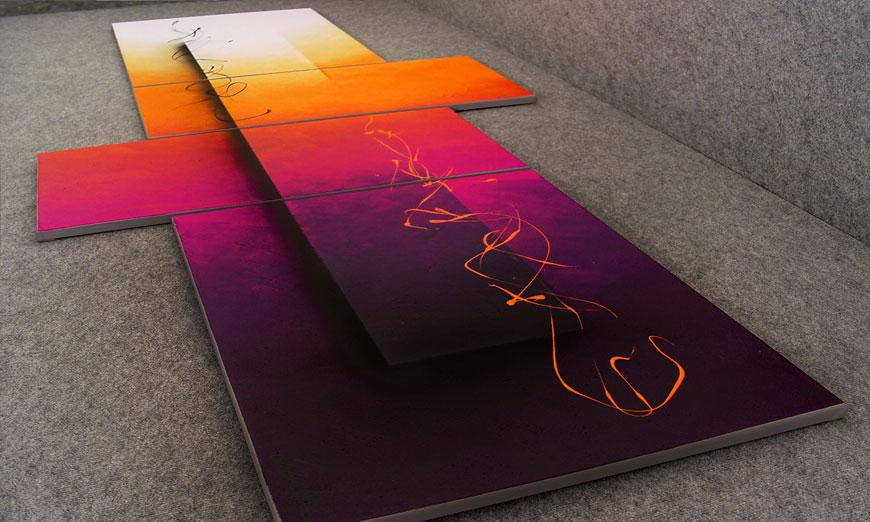 Day and Night 240x100x2cm Obraz-XXL