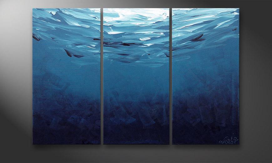 Deep Blue 120x80x2cm Obraz