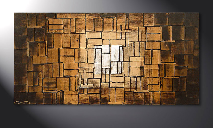 Earth Cubes 120x60x2cm Obraz