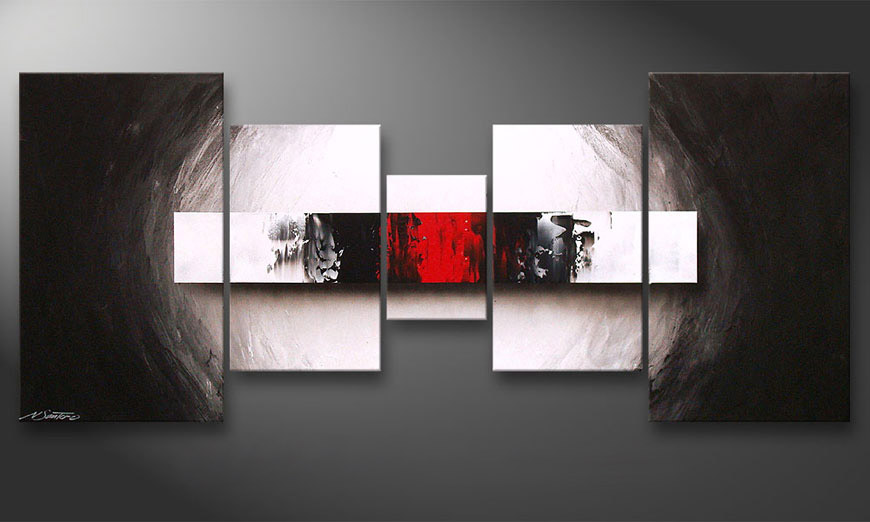 End of Contrast 160x70x2cm obraz do salonu