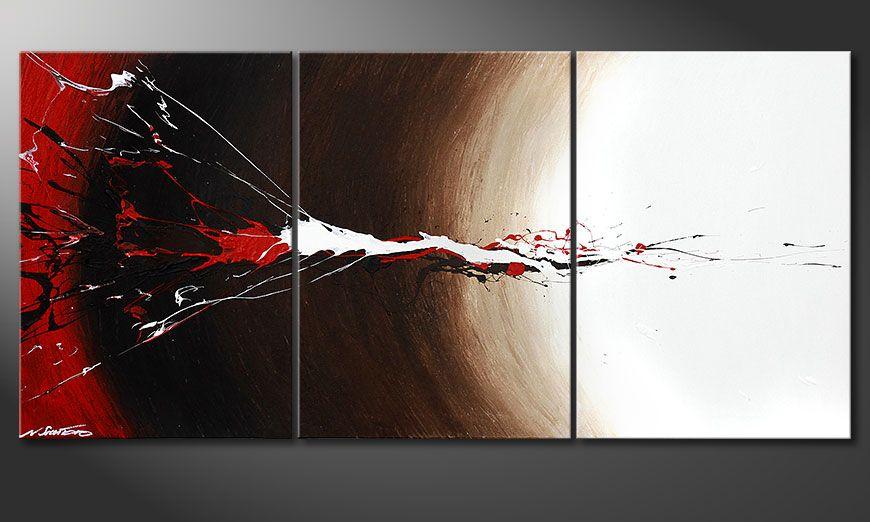 Erupted Contrast 150x70x2cm Obraz
