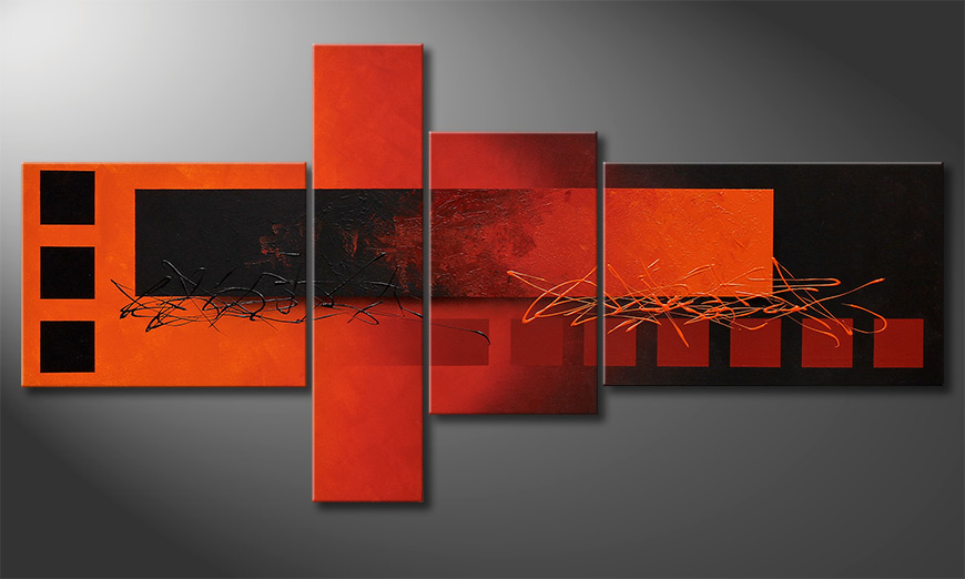 Fiery Emotions 160x80x2cm Obraz