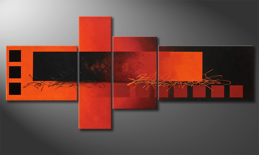 Fiery Emotions 220x100x2cm Obraz-XXL