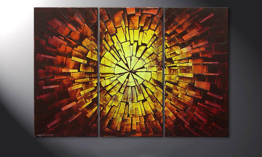 Fiery Explosion 120x80x2cm Obraz