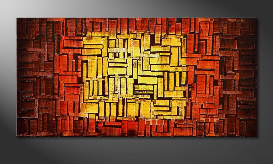 Fire Cubes 120x60x2cm Obraz