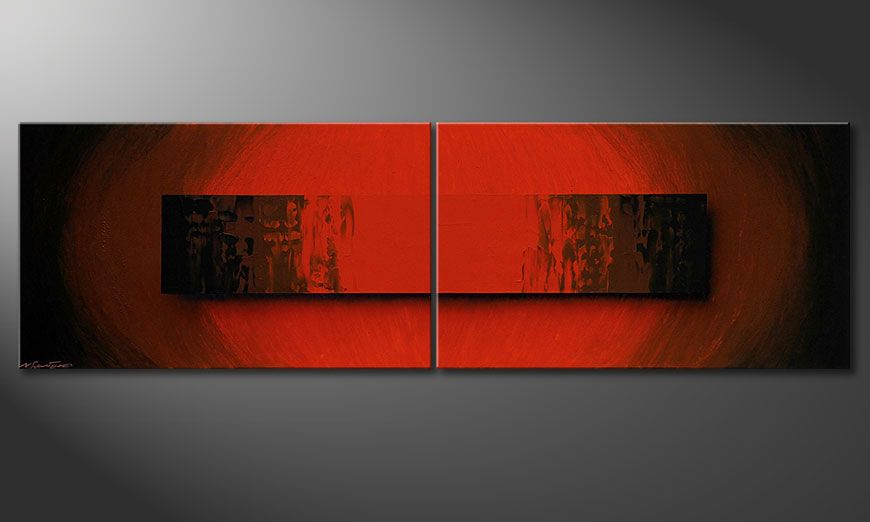 Glowing Red 200x60x2cm Obraz