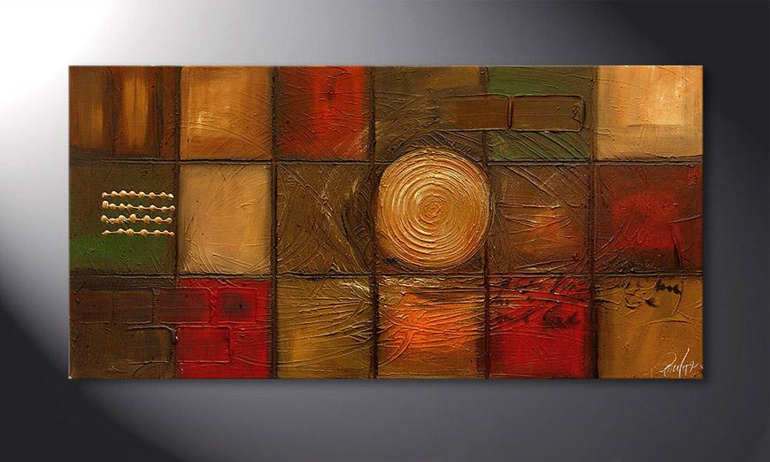 Golden Center 120x60x2cm Obraz