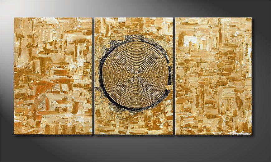 Golden Sun 120x60x2cm Obraz