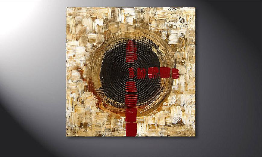 Golden Times 80x80x2cm Obraz