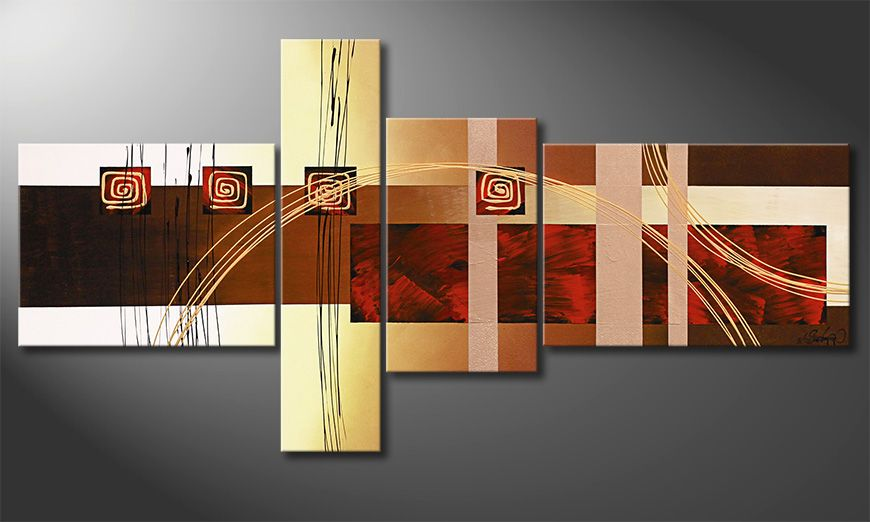 Golden Ways 160x80x2cm obraz do salonu