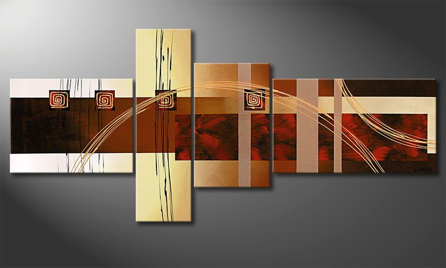 Golden Ways 220x100x2cm Obraz-XXL