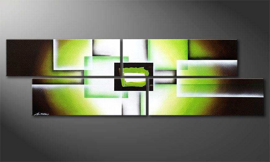 Green Spirit 200x60x2cm  Obraz