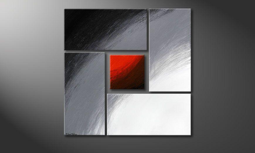 Internal Heat 90x90x2cm (2 & 4cm) nowoczesne obraz