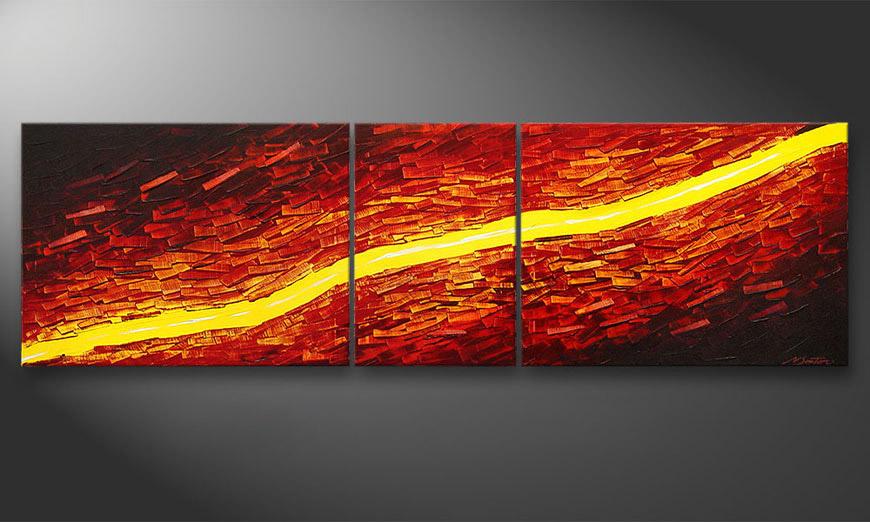 Lava Stream 200x60x2cm Obraz