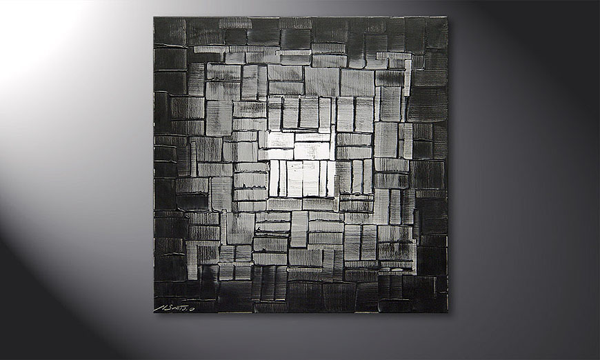 Light Cube 80x80x2cm Obraz