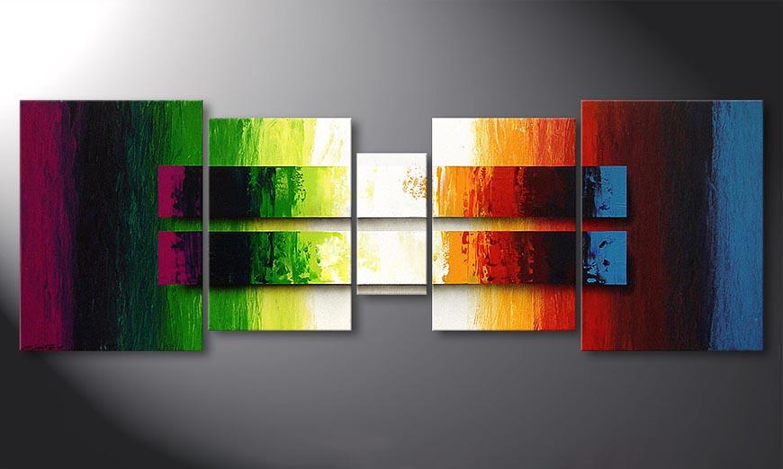 Liquid Colours 200x70x2cm Obraz