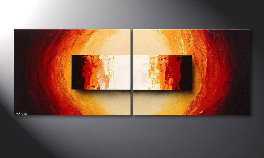 Liquid Fire 160x60x2cm Obraz