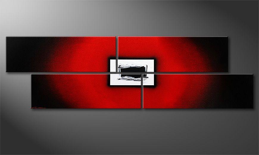 Lost Red 200x60x2cm Obraz