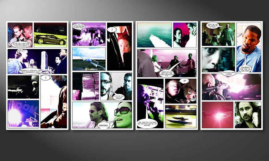 Miami Vice 160x70x2cm Obraz