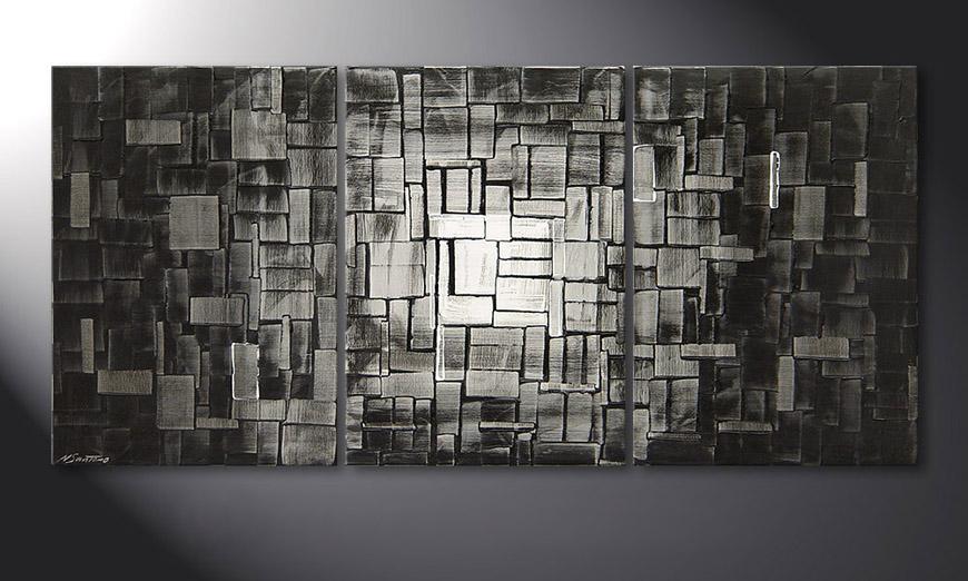 Moon Cubes 150x70x2cm Obraz
