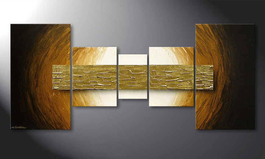 Natural Gold 160x70x2cm Obraz