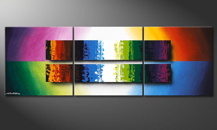 Nowoczesne obraz Expression of Colours 150x50x2cm