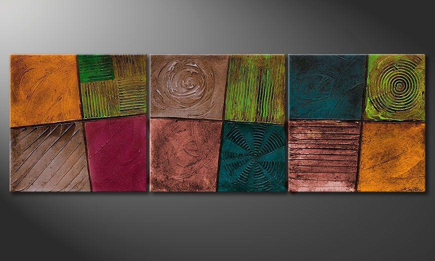 Nowoczesne obraz Facets of Life 150x50x2cm