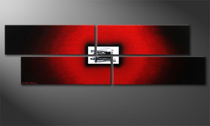 Nowoczesne obraz Lost Red 130x40x2cm