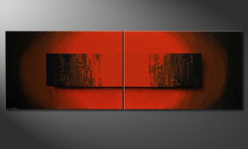 Obraz XXL Glowing Red 240x80x2cm