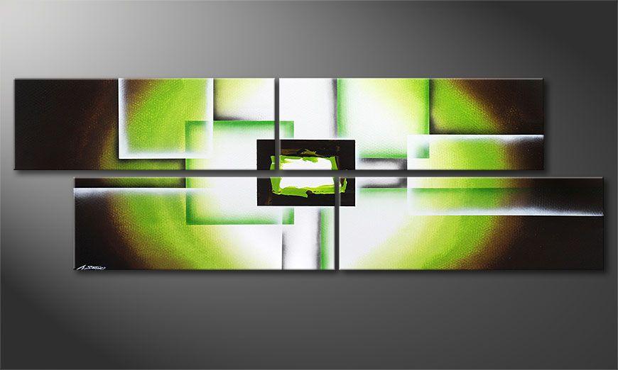 Obraz XXL Green Spirit 245x80x2cm