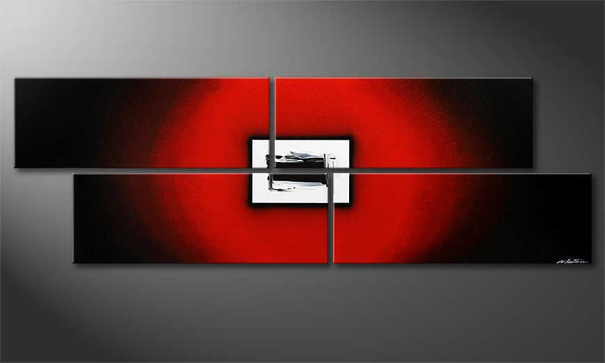 Obraz XXL Lost Red 245x80x2cm