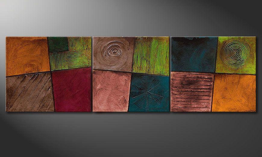 Obraz do salonu Facets of Life 260x80x2cm