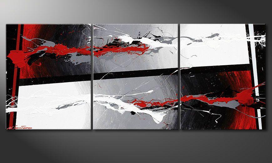 Obraz do salonu Powerful Contrast 120x50x2cm