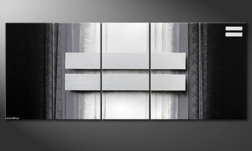 Obraz do salonu Silver Rain 200x80x2cm