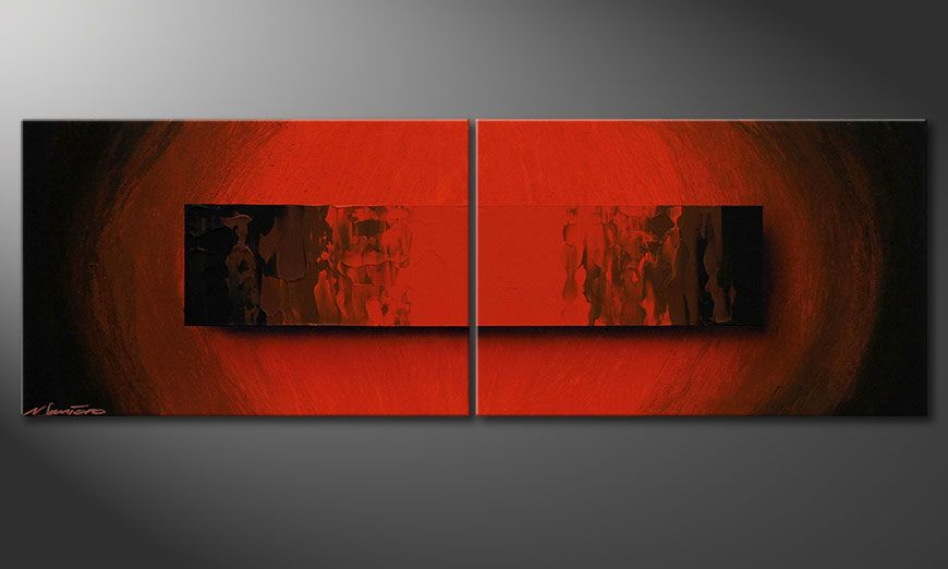 Obraz na blejtramie Glowing Red 120x40x2cm